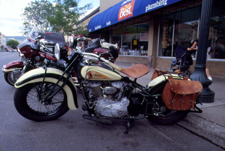 Photo of Old Classic Indian Motor Cycle